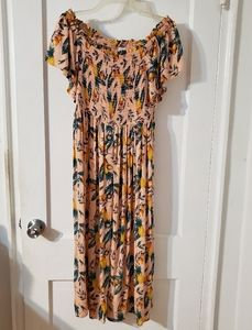 C&C California off shoulder dress.